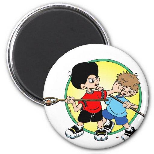 Lacrosse #2 refrigerator magnet