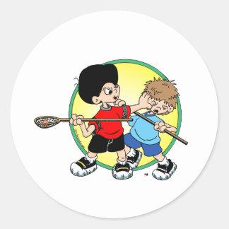 Lacrosse #2 round stickers