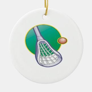 Lacrosse 3 ceramic ornament