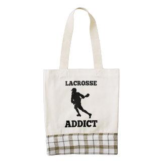 Lacrosse Addict Zazzle HEART Tote Bag