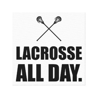 Lacrosse All Day Canvas Print