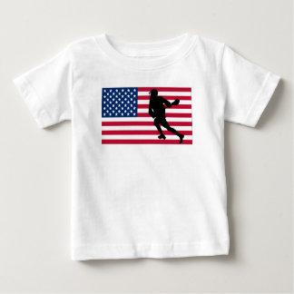 Lacrosse American Flag Baby T-Shirt