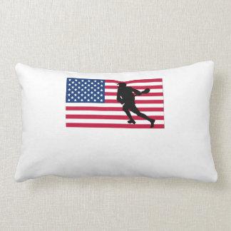 Lacrosse American Flag Lumbar Pillow