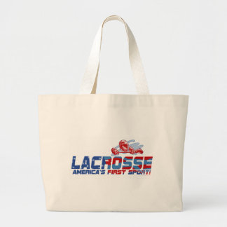 Lacrosse America's First Sport Gear Large Tote Bag