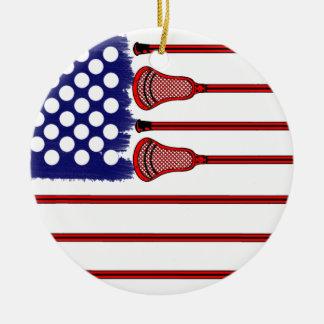 Lacrosse Americas Game Ceramic Ornament