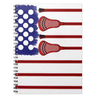 Lacrosse Americas Game Spiral Notebook