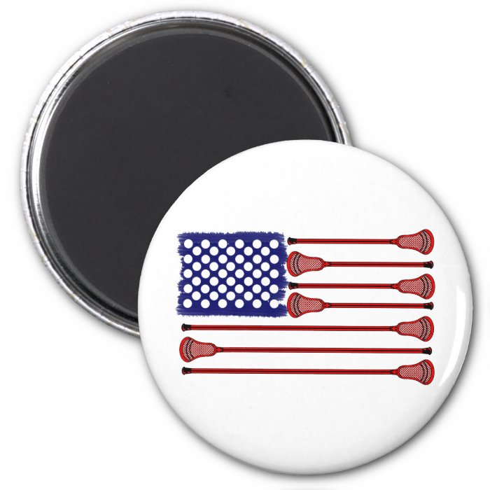 Lacrosse AmericasGame 2 Inch Round Magnet