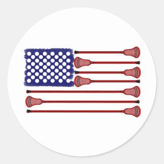 Lacrosse AmericasGame Classic Round Sticker