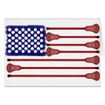 Lacrosse AmericasGame Greeting Card