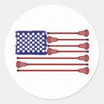 Lacrosse AmericasGame Round Sticker