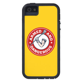 Lacrosse Armed and Dangerous iPhone cover