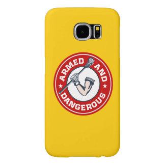 LaCrosse armó y la cubierta peligrosa S6 Fundas Samsung Galaxy S6