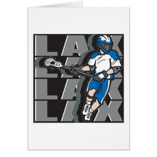 Lacrosse Attack Greeting Card