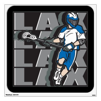 Lacrosse Attack Wall Sticker