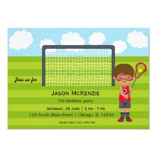 Lacrosse Birthday boy Card