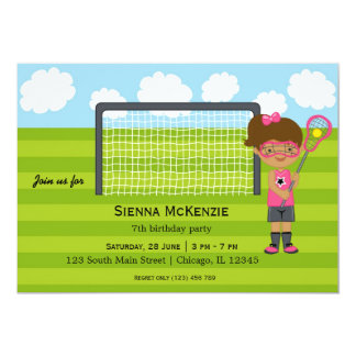 Lacrosse Birthday girl Card