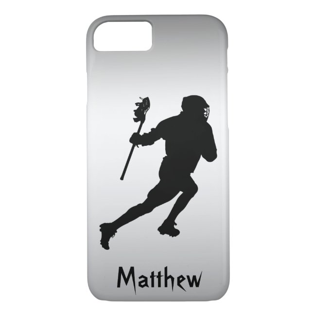 Lacrosse Black Silver Sports iPhone 8/7 Case