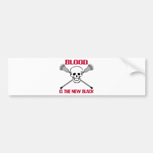 Lacrosse BlackBlood Bumper Sticker