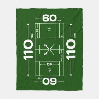 Lacrosse Blanket - Lacrosse Field Design