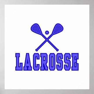 Lacrosse blue poster