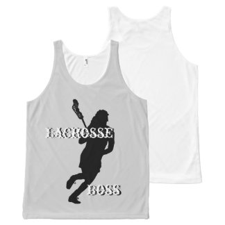 Lacrosse Boss F Unisex All-Over Print Tank Top