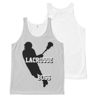 Lacrosse Boss M Unisex All-Over Print Tank Top