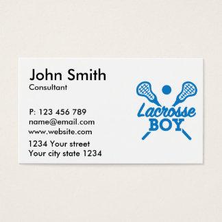 Lacrosse boy business card