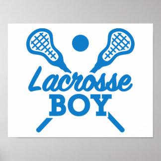 Lacrosse boy poster