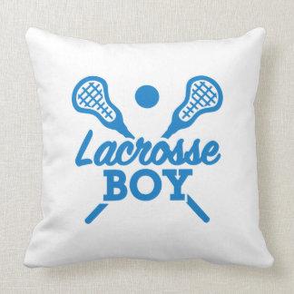 Lacrosse boy throw pillow