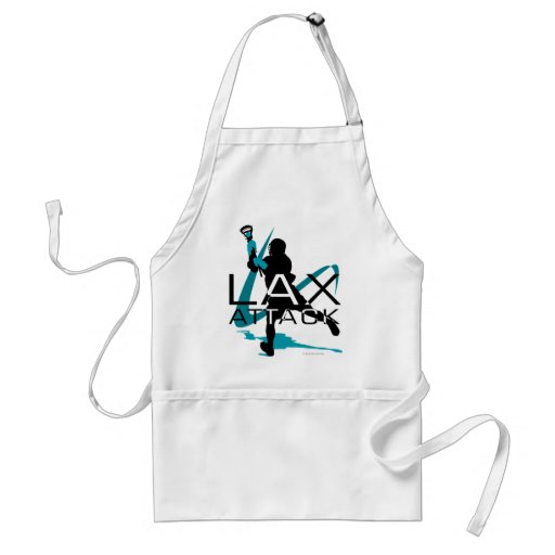 Lacrosse Boys LAX Attack Aqua Aprons