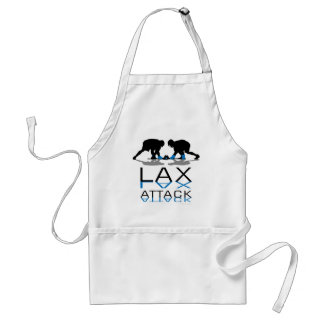 Lacrosse Boys LAX Attack Blue Aprons