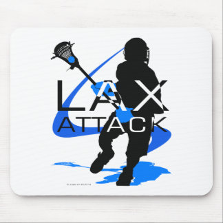 Lacrosse Boys LAX Attack Blue Mouse Pad