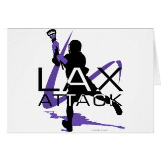 Lacrosse Boys LAX Attack Purple Card