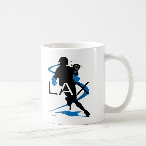 Lacrosse Boys LAX Blue Coffee Mug