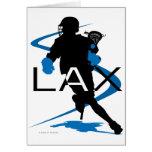 Lacrosse Boys LAX Blue Greeting Card