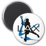 Lacrosse Boys LAX Blue Magnet