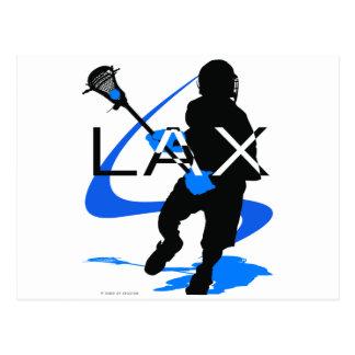 Lacrosse Boys LAX Blue Postcard