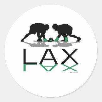Lacrosse Boys LAX Green Classic Round Sticker