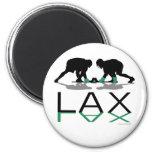 Lacrosse Boys LAX Green Fridge Magnets