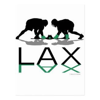 Lacrosse Boys LAX Green Postcard