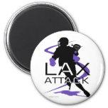 Lacrosse Boys LAX Purple Fridge Magnets