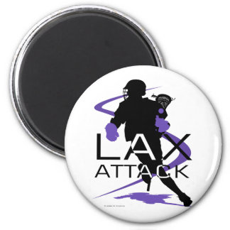 Lacrosse Boys LAX Purple Magnet