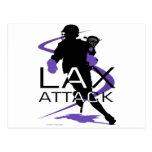 Lacrosse Boys LAX Purple Postcards