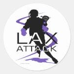 Lacrosse Boys LAX Purple Stickers