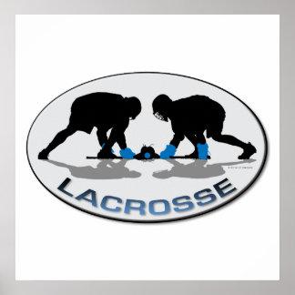 Lacrosse Boys oval blue Poster