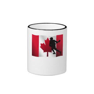 Lacrosse Canadian Flag Coffee Mugs