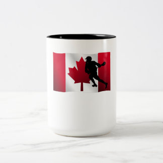 Lacrosse Canadian Flag Mugs