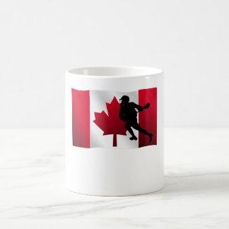 Lacrosse Canadian Flag Coffee Mug
