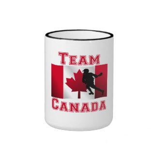 Lacrosse Canadian Flag Team Canada Coffee Mugs