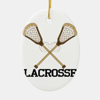 Lacrosse Ceramic Ornament